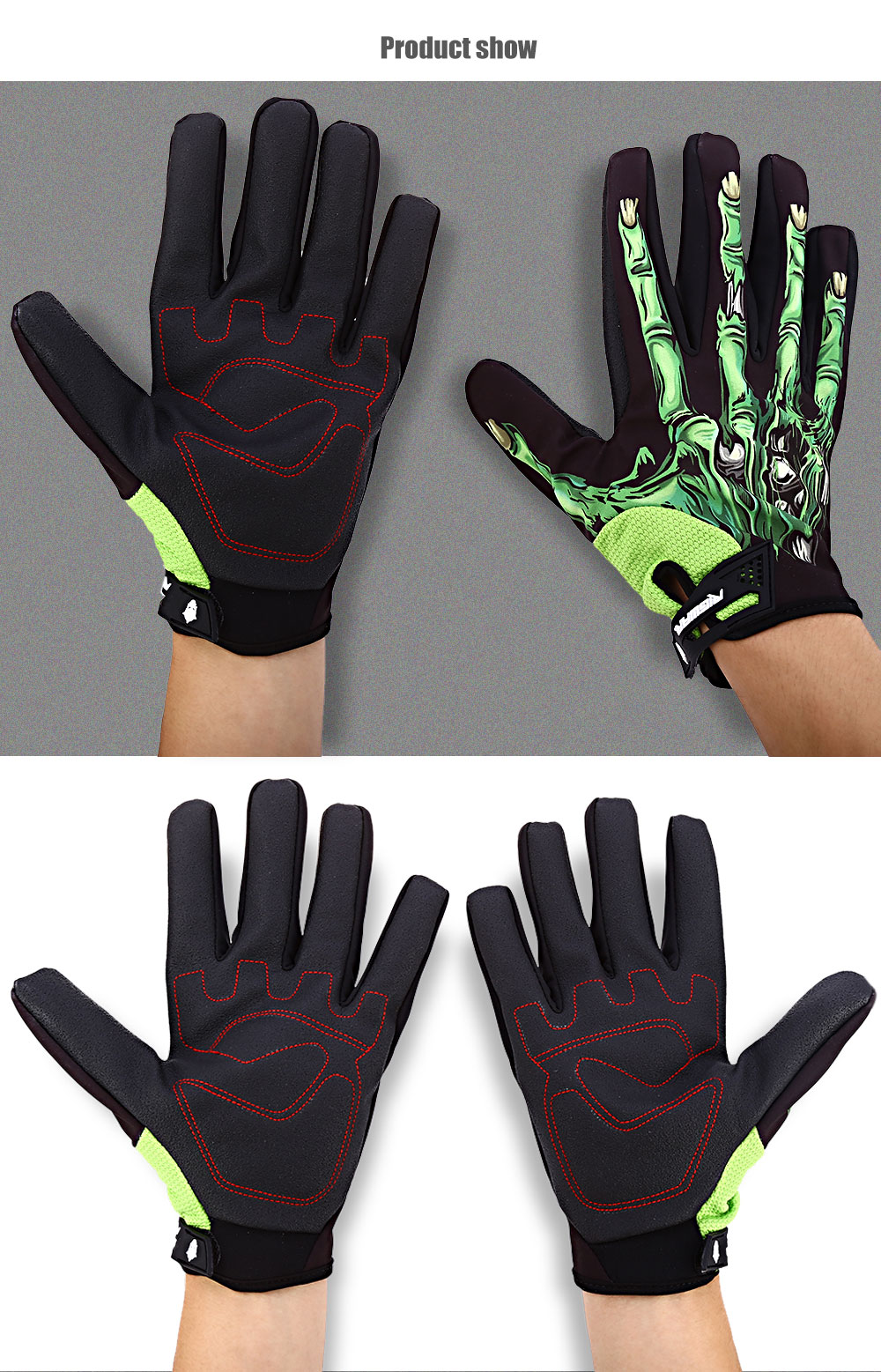 Piar of RIGWARL Motorcycle Riding Gloves Waterproof Breathable Outdoor Sport Touchscreen Full-finger