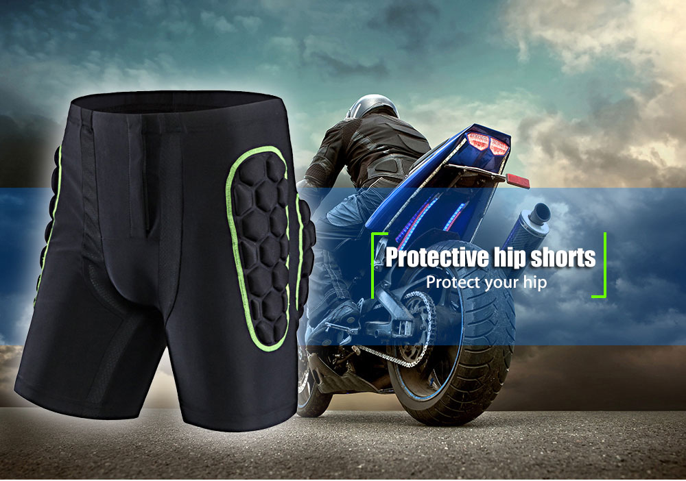 SALETU Protective Hip Shorts Ski Skate Riding Cycling Protection Drop Resistance Haunch Protector