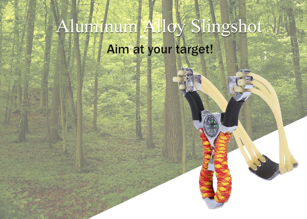 Aluminum Alloy Slingshot Sling Shot Catapult Camouflage Bow Outdoor Hunting Camping Travel Kits