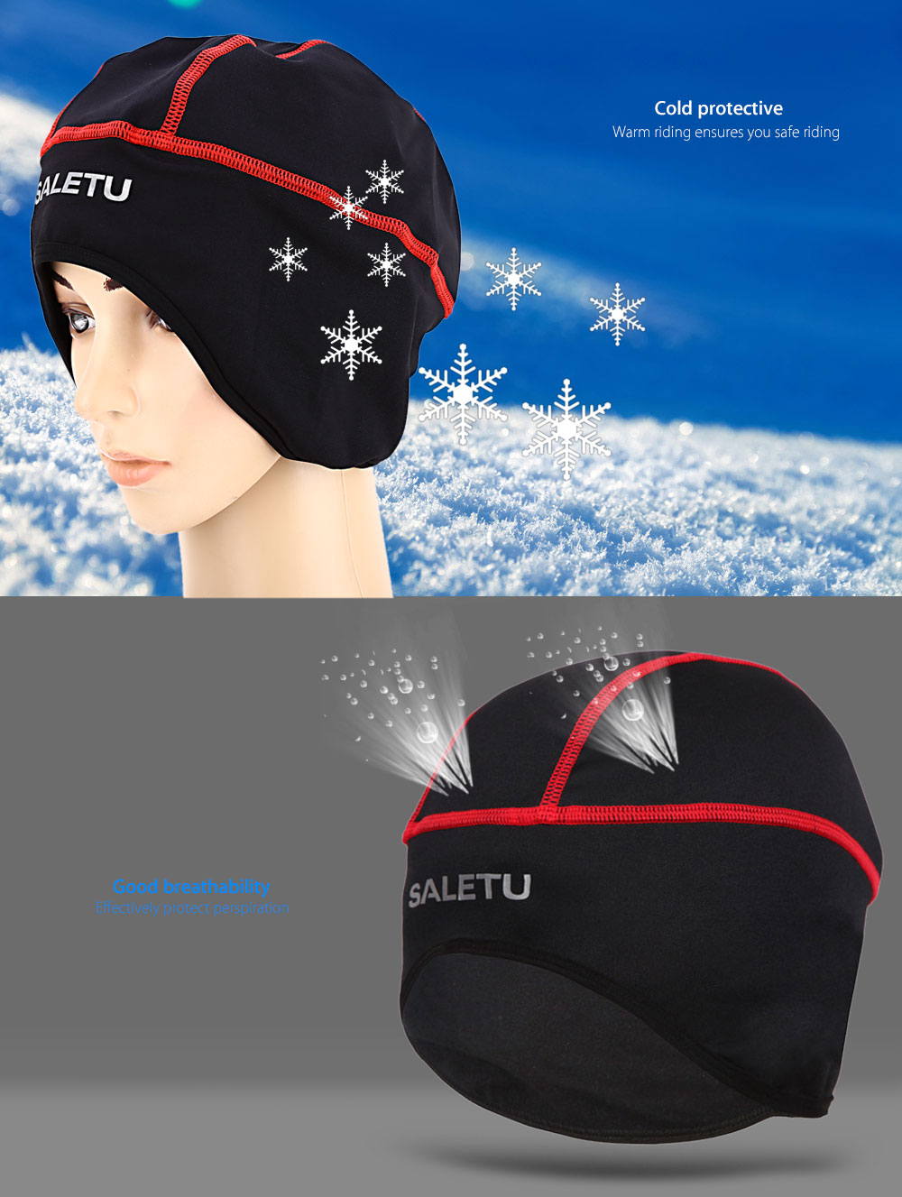 SALETU Breathable Outdoor Sports Riding Hat Headgear Motorcycle Cycling Cap