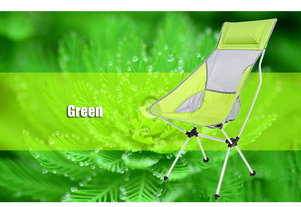 Folding Aluminum Alloy Rocking Chair Seat with Bag for Outdoor Camping Picnic Beach