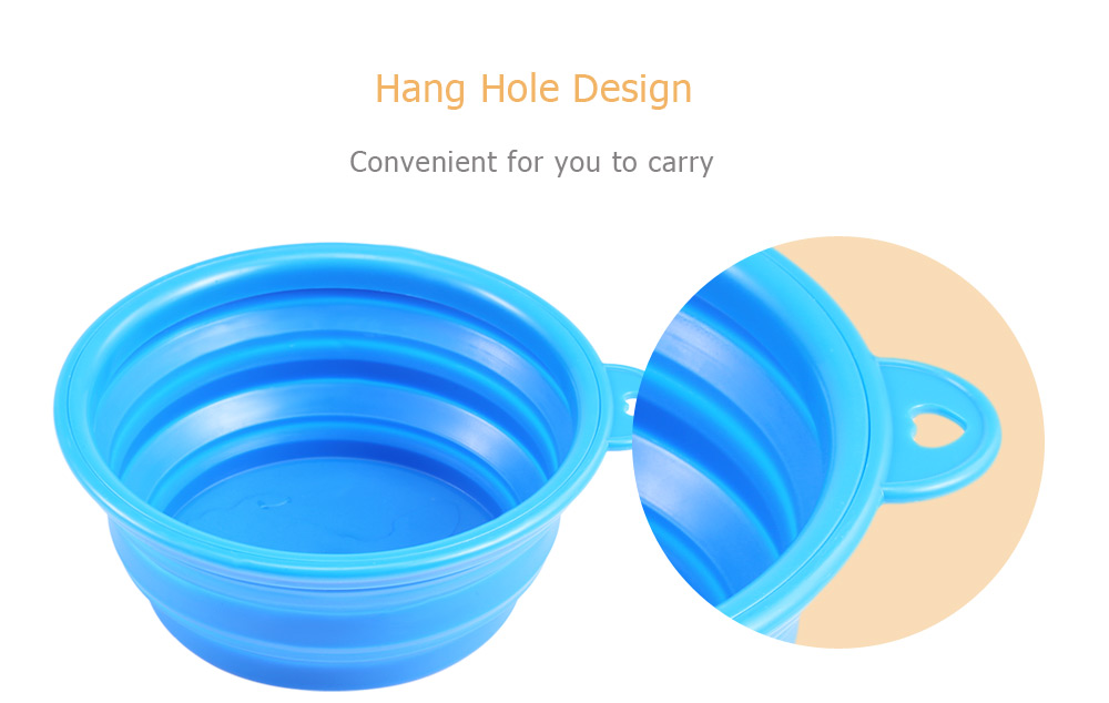 Silicone Collapsible Expandable Food Water Feeding Pet Dog Bowl