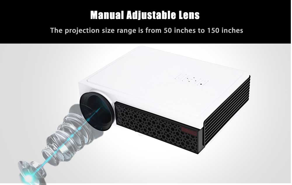 LED - 96 + LCD Projector 2800 Lumens 1280 x 800 Pixels for Home Office Education