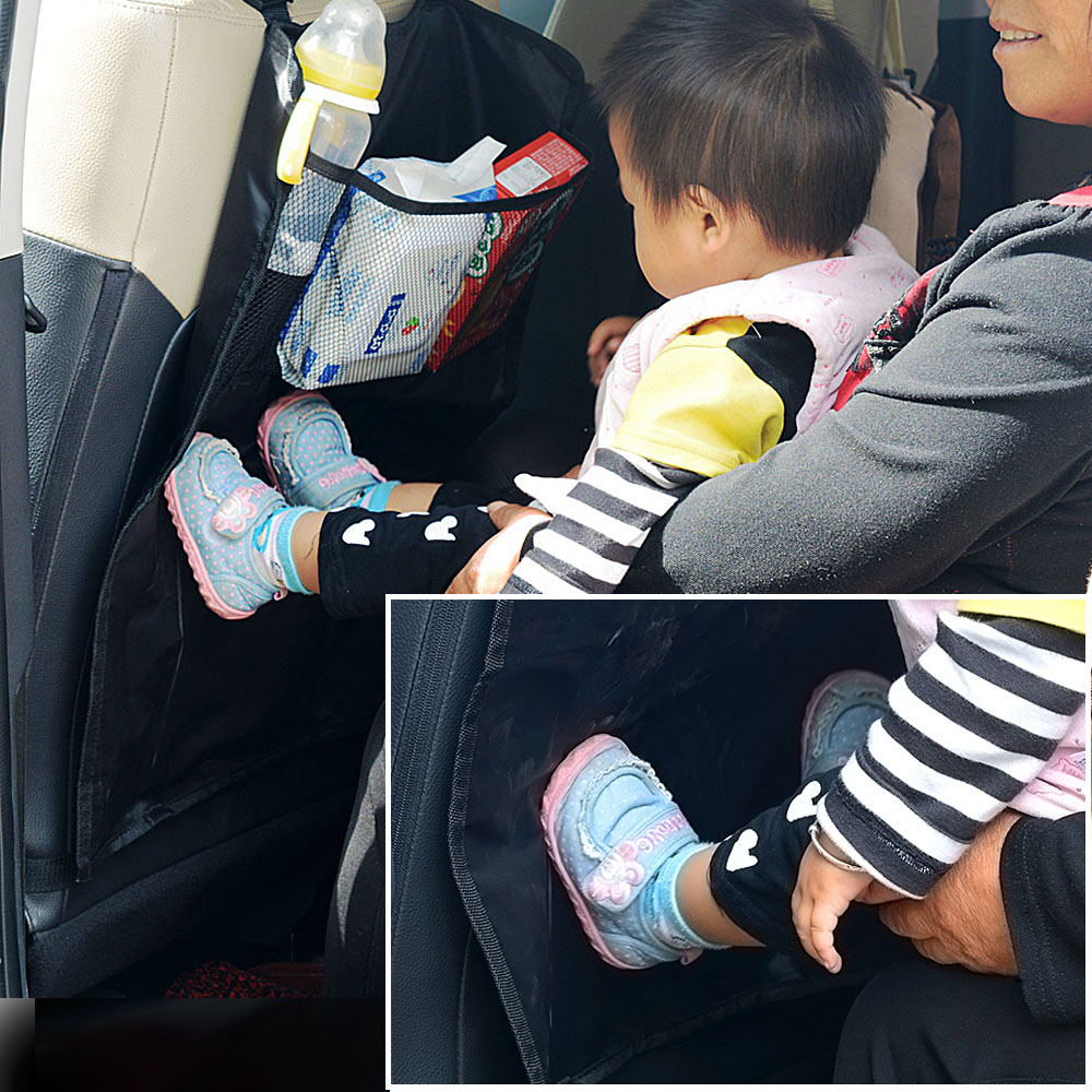 Car Seat Back Protector Children Kick Protective Cover Prevent Mud Dirt Scratch