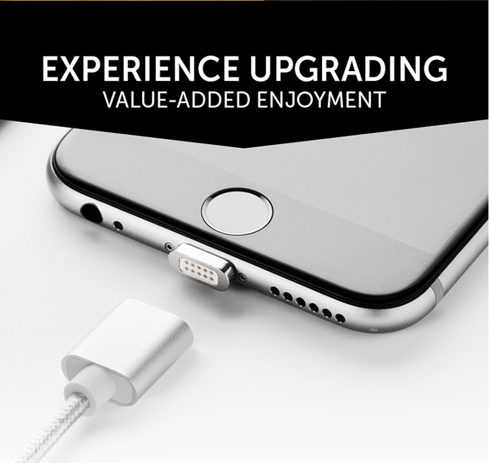Moizen M2sr Magnetic Suction Charging Data Transmission Cable for iPhone 1M