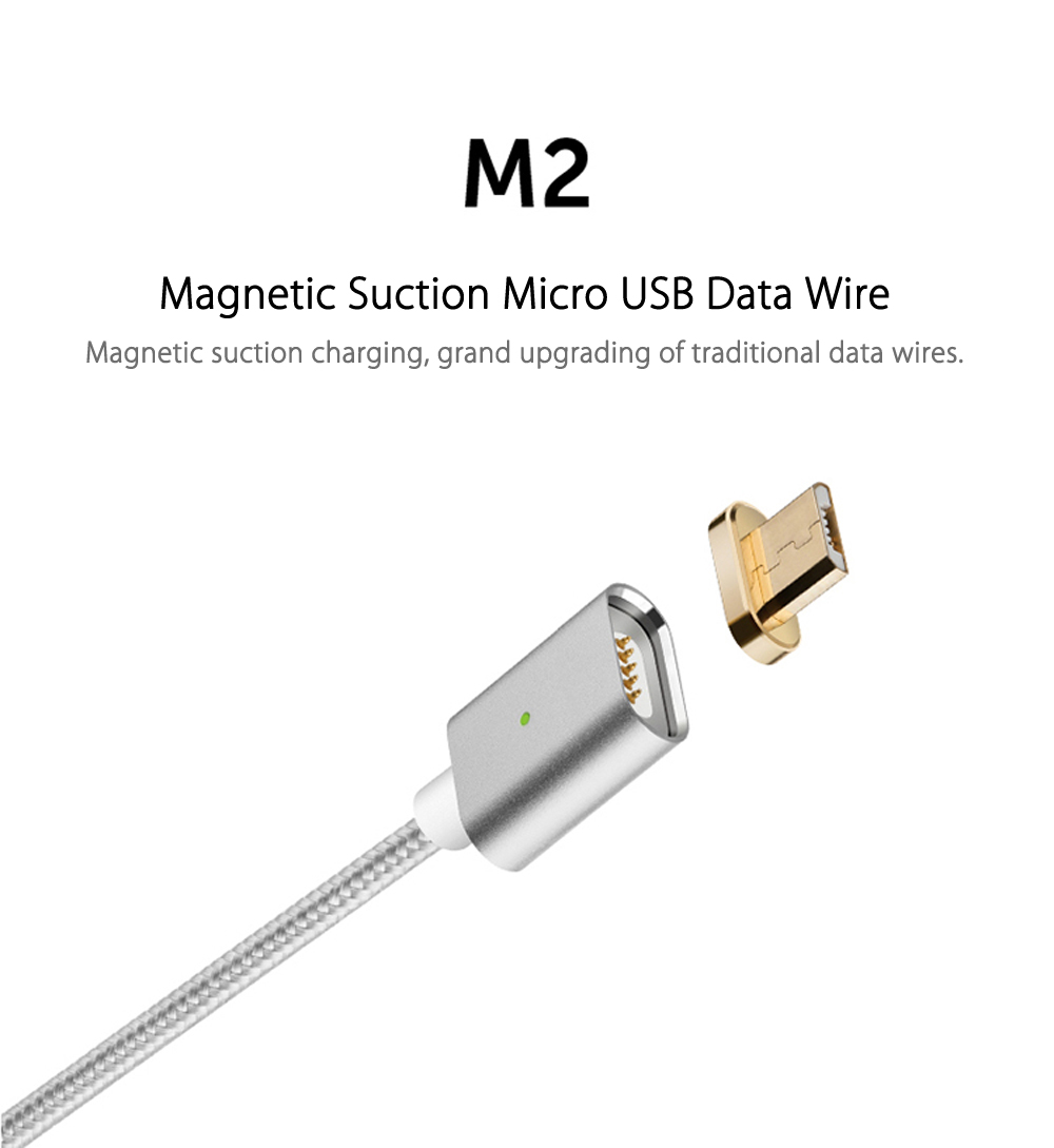 Moizen M2sr Magnetic Suction Micro USB Adapter Charging Data Transmission Cable 1M