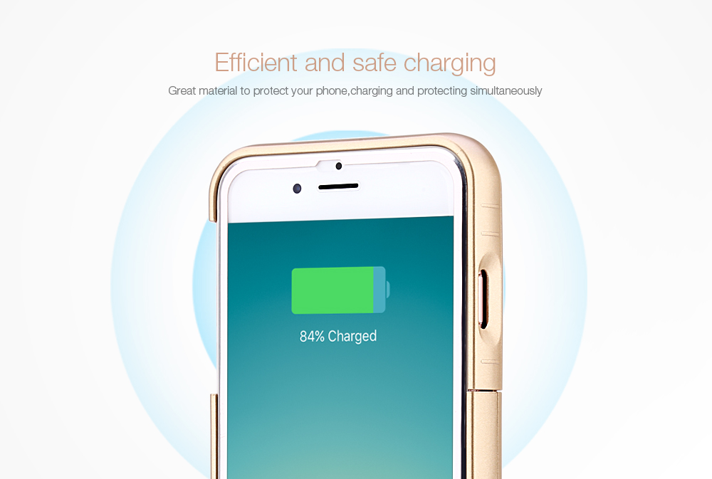 3200mAh External Battery Power Bank Charger Cover with Kickstand for iPhone 6 / 6S / 7 4.7 inch