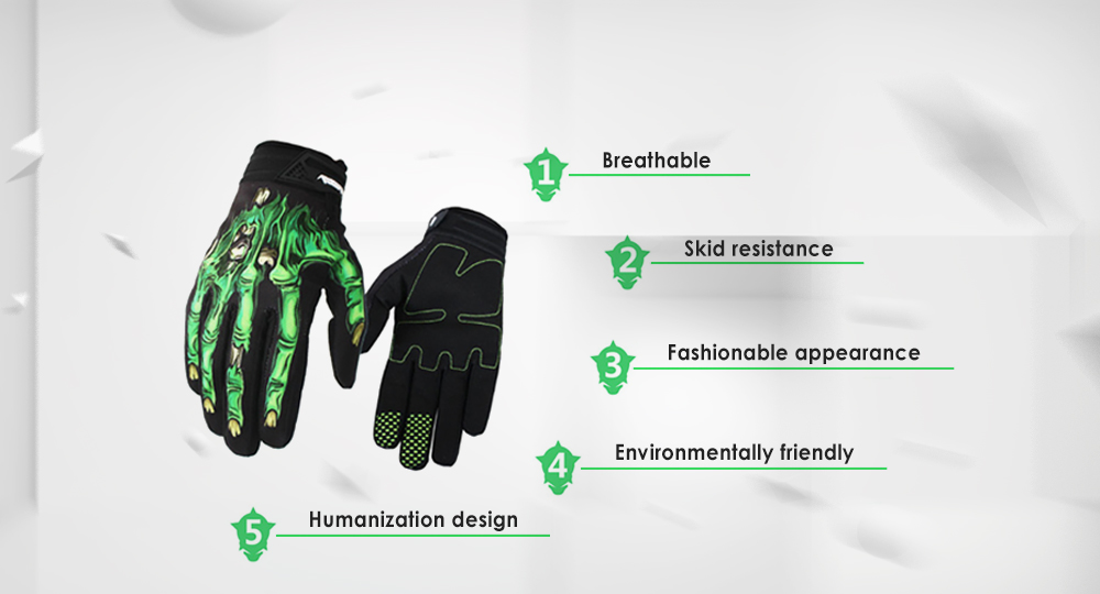 Pair of RIGWARL Motorcycle Riding Gloves Breathable Outdoor Sport Full-finger