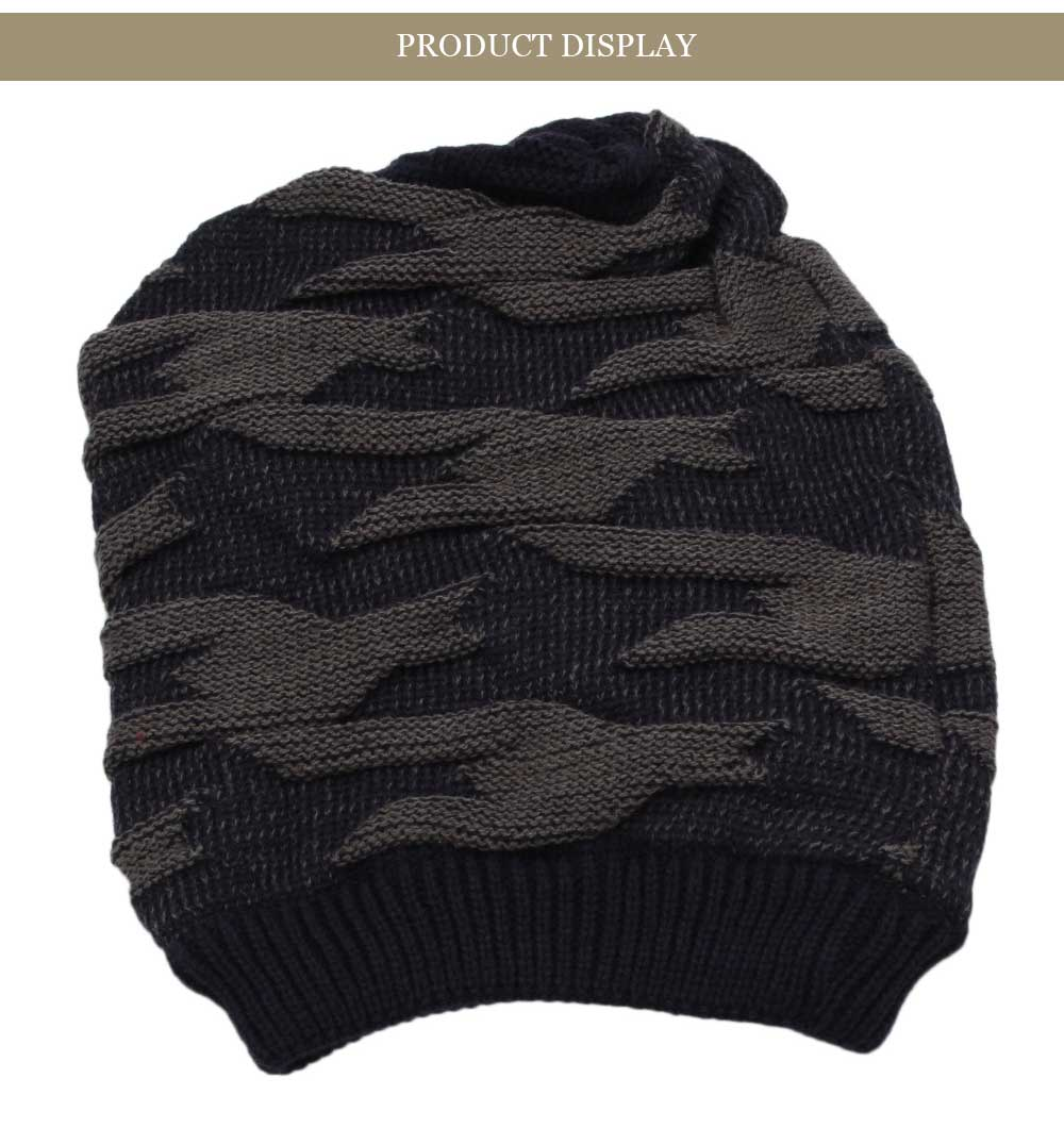 Casual Winter Elastic Band Warm Ear Care Knitted Hat for Men