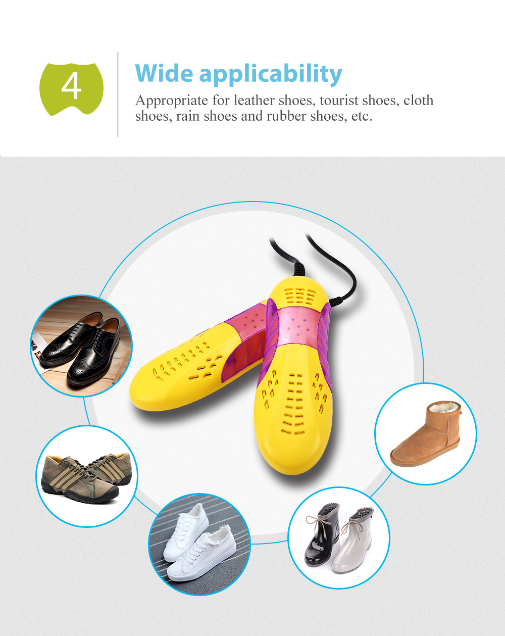 UV Electric Shoes Dryer Boot Drying Heater Foot Protector Racer Car Shape Deodorant Device