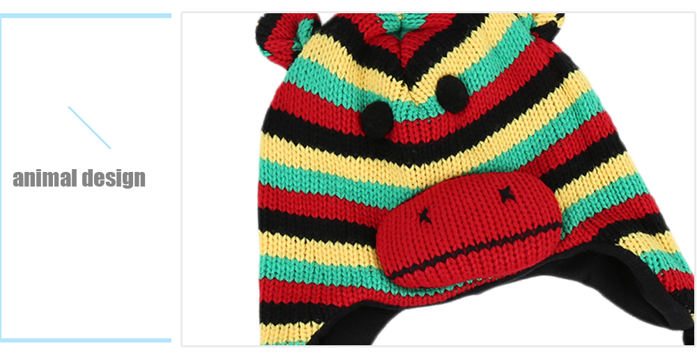 QULEXING Cute Animal Design Knitted Child Hat