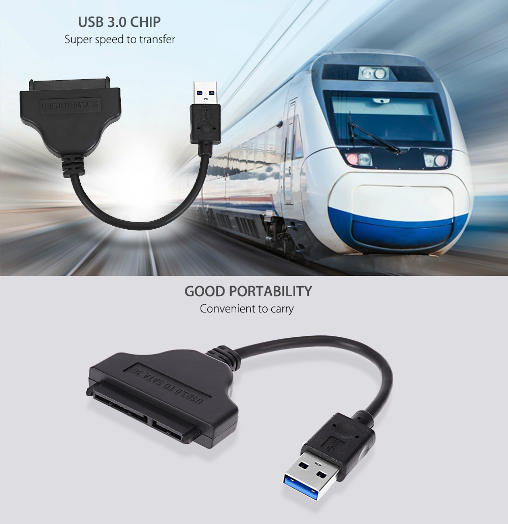 UL - Tunite USB 3.0 to SATA 22 Pin 2.5 inch Hard Disk Driver Adapter Cable Extender