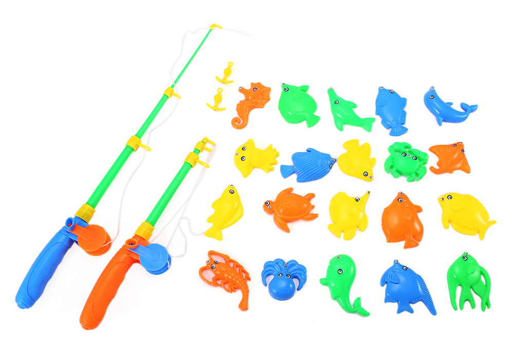 Kids Magnetic Fishing Game Toy with Fish Rod