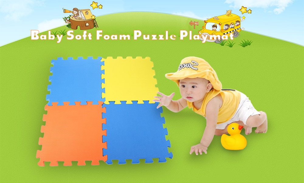 9pcs Baby Colorful Soft Foam Activity Sports Exercise Playmat