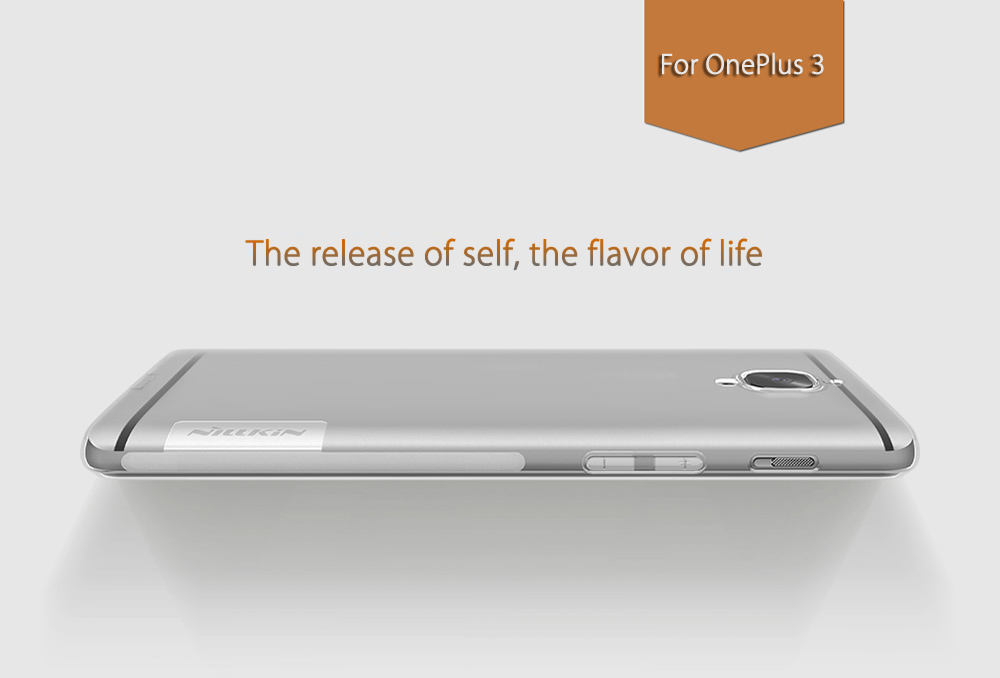NILLKIN Natural Series TPU Transparent Cover for OnePlus 3