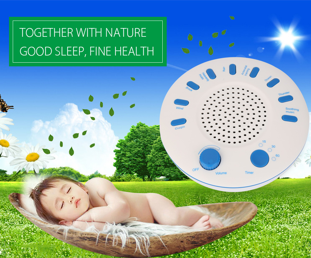 PUKOM Sound Relaxation Machine Household Sleep Helper with 9 Nature Music