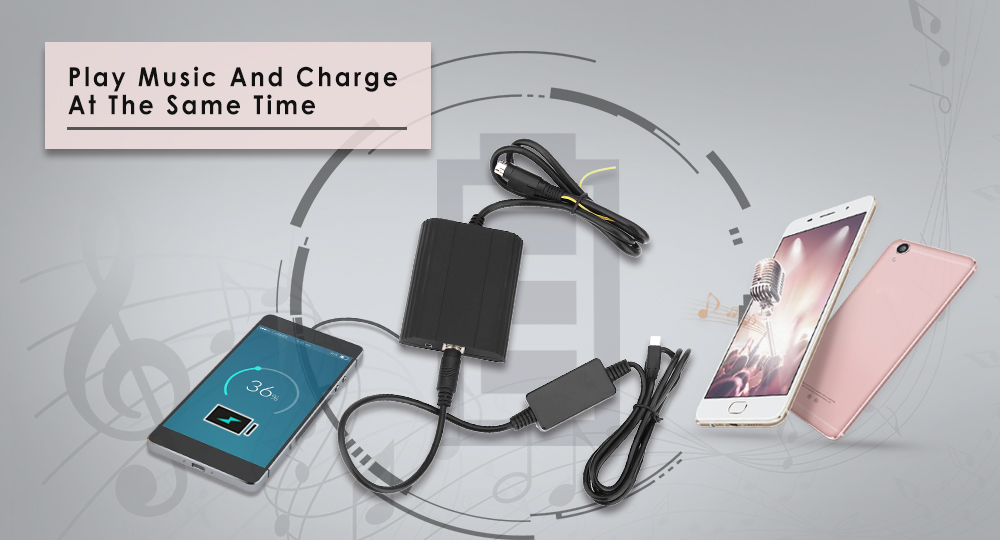 WT - IP5 Car Charger Adapter for Volvo SC Vehicle MP3 Player Digital CD Box