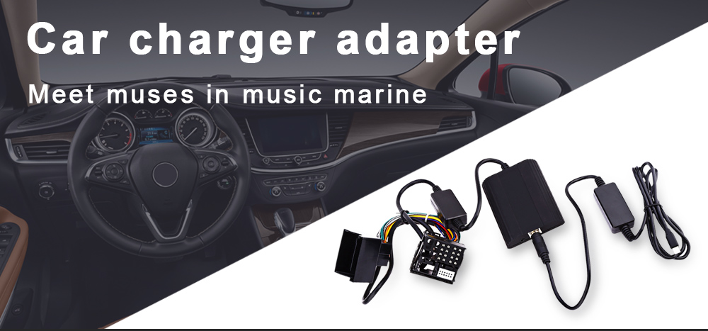 WT - IP5 40 Pin Car Charger Adapter for BMW Vehicle MP3 Player Digital CD Box