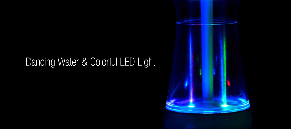 FanHua Wireless Bluetooth Speaker with Dancing Water Colorful LED Light
