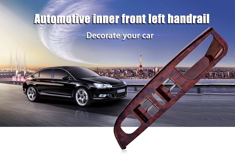 ABS Automotive Inner Front Left Door Handle Handrail Box Frame Cover Armrest for Sagitar