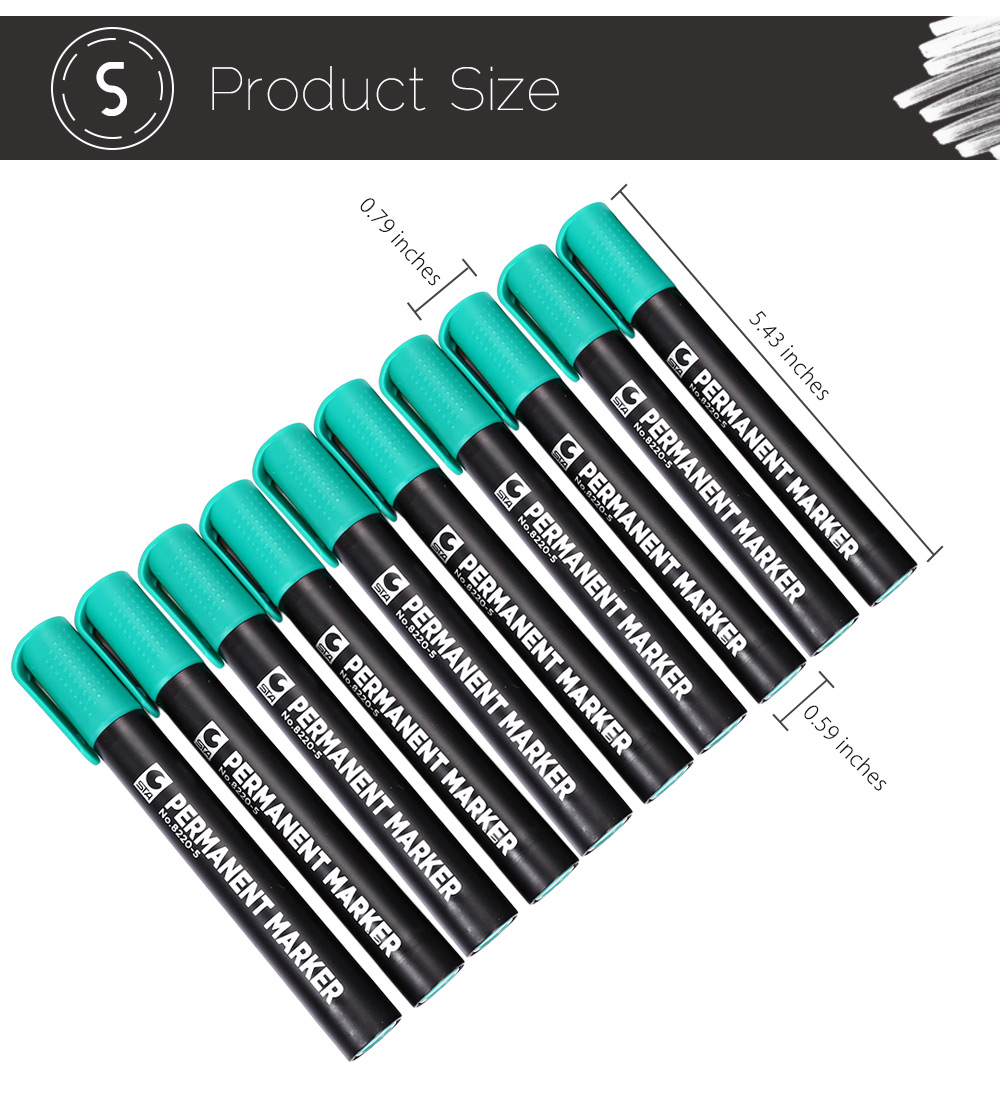 STA 4 Colors Permanent Pen Mark Painting Office Tackle