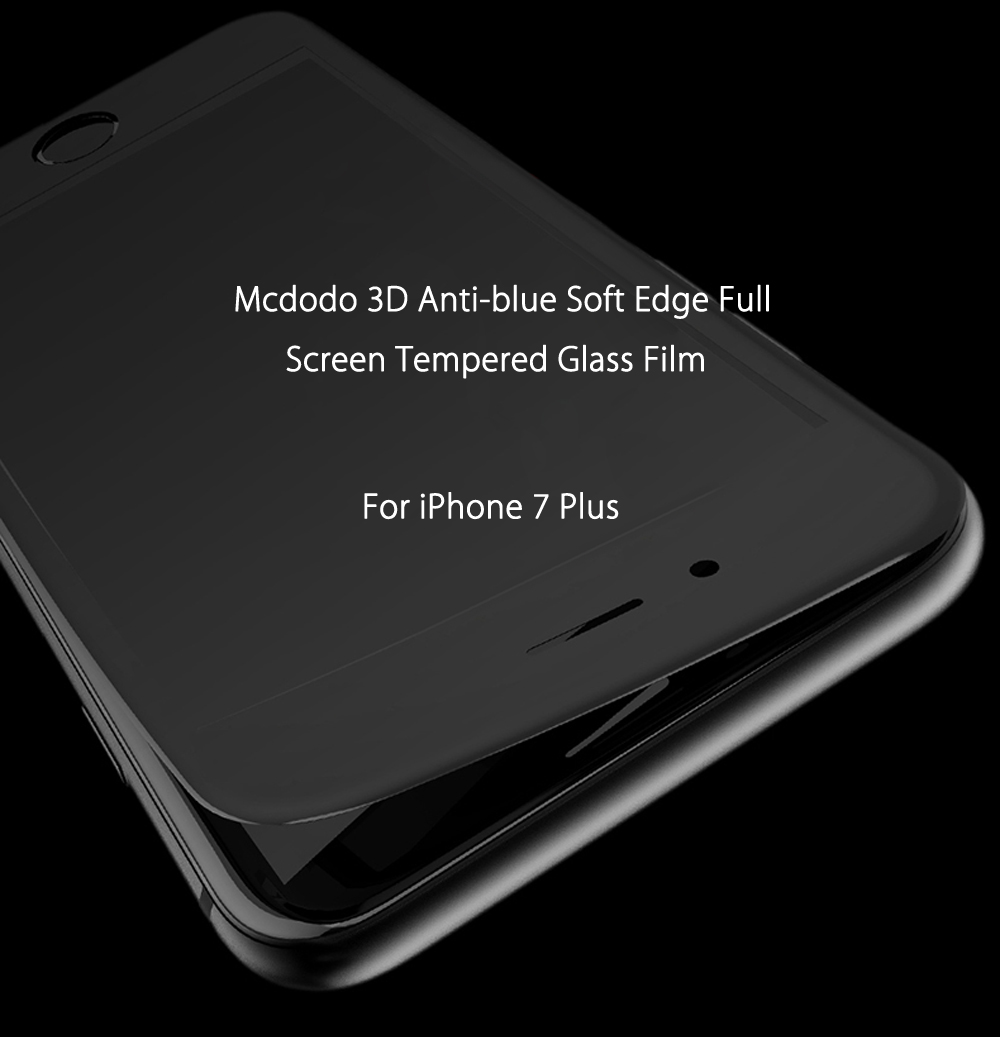 Mcdodo 3D Anti-blue Soft Edge Full Screen Tempered Glass Film for iPhone 7 Plus