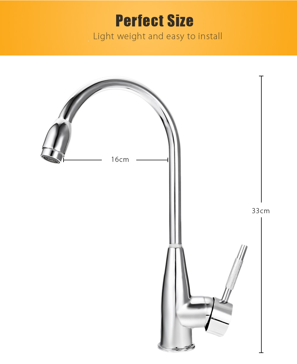 360 Degree Single Hole Double Control Kitchen Tap Faucet