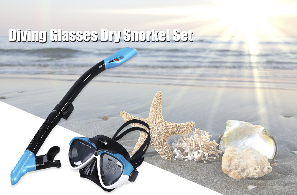 Swimming Scuba Anti-fog Goggles Mask Underwater Diving Set Glasses Dry Snorkel