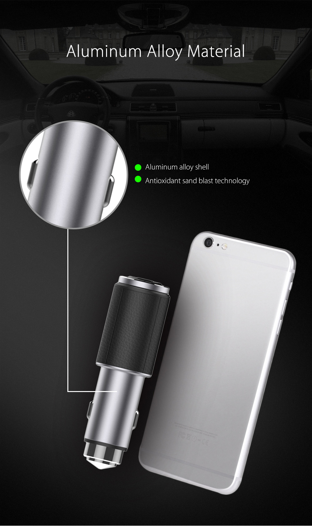 Dual USB Bluetooth V4.1 Business Car Charger Earphones Headphones