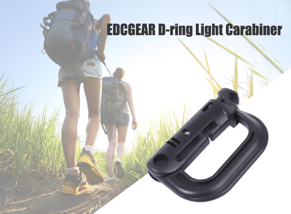 EDCGEAR D-ring Tactical Backpack Shackle Clip Locking Outdoors Tool