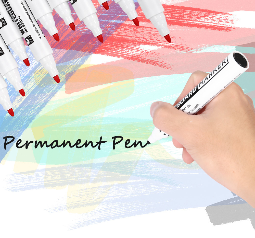 STA 10pcs Whiteboard Pen Mark Painting Office Tackle