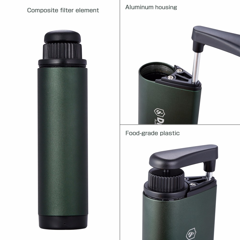 Diercon Tactical TW01 Water Filter Straw Purification System Pathogens Removal for Camping Hiking