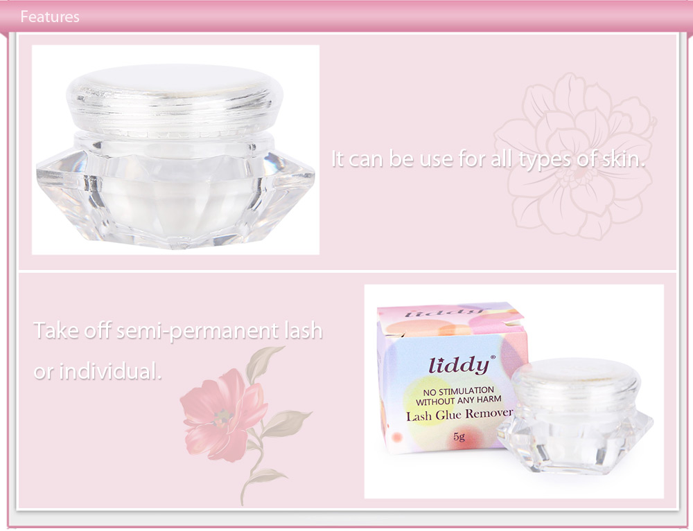 LIDDY False Eyelash Makeup Remover Gel