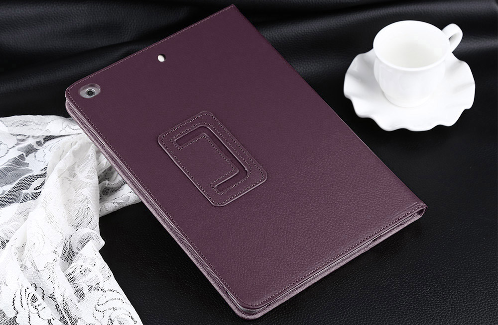 Lychee Lines Leather Material Stand Case for iPad Air / Air 2