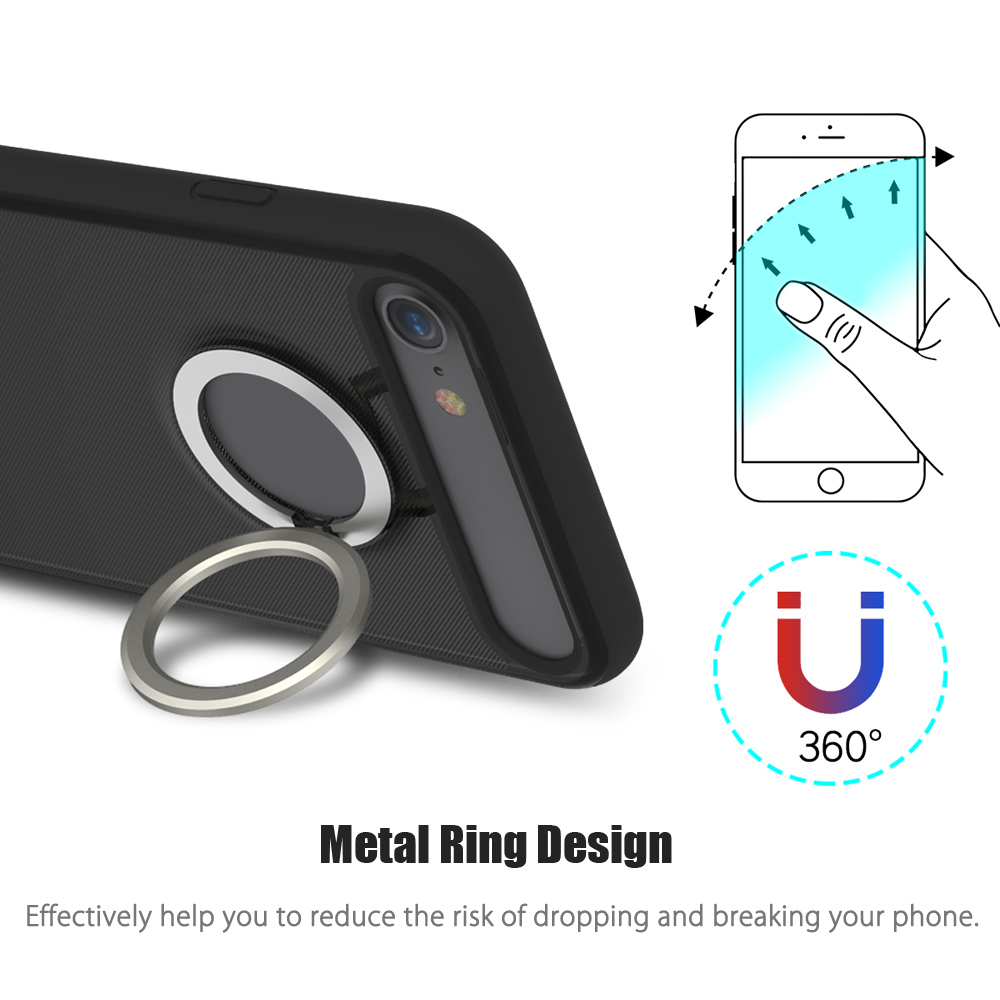 Rock M2 Magnetic Ring Kickstand Protective Phone Case for iPhone 7