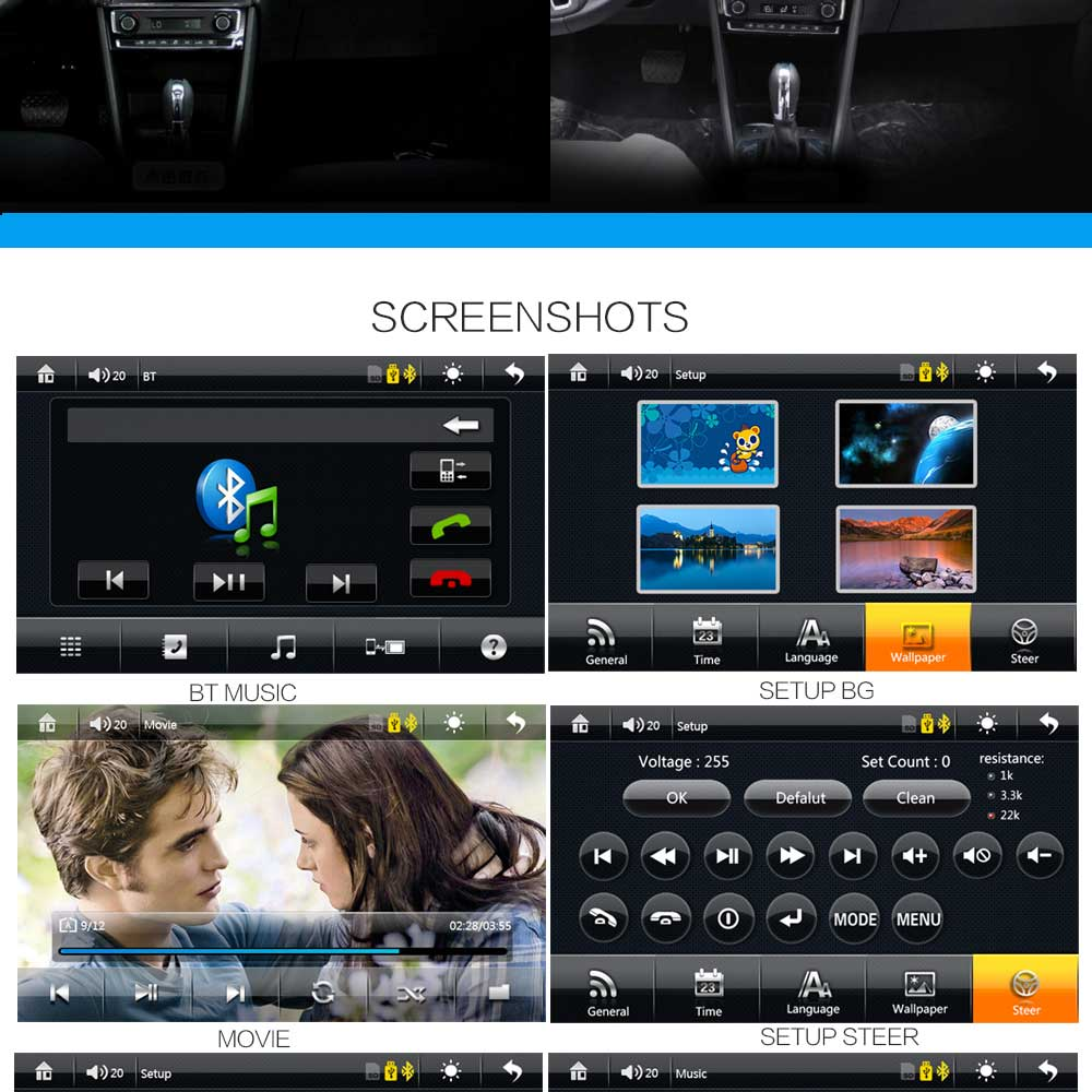8001 7 inch 2-din 12V Car Multimedia MP5 Player with Camera GPS AM FM Bluetooth Function