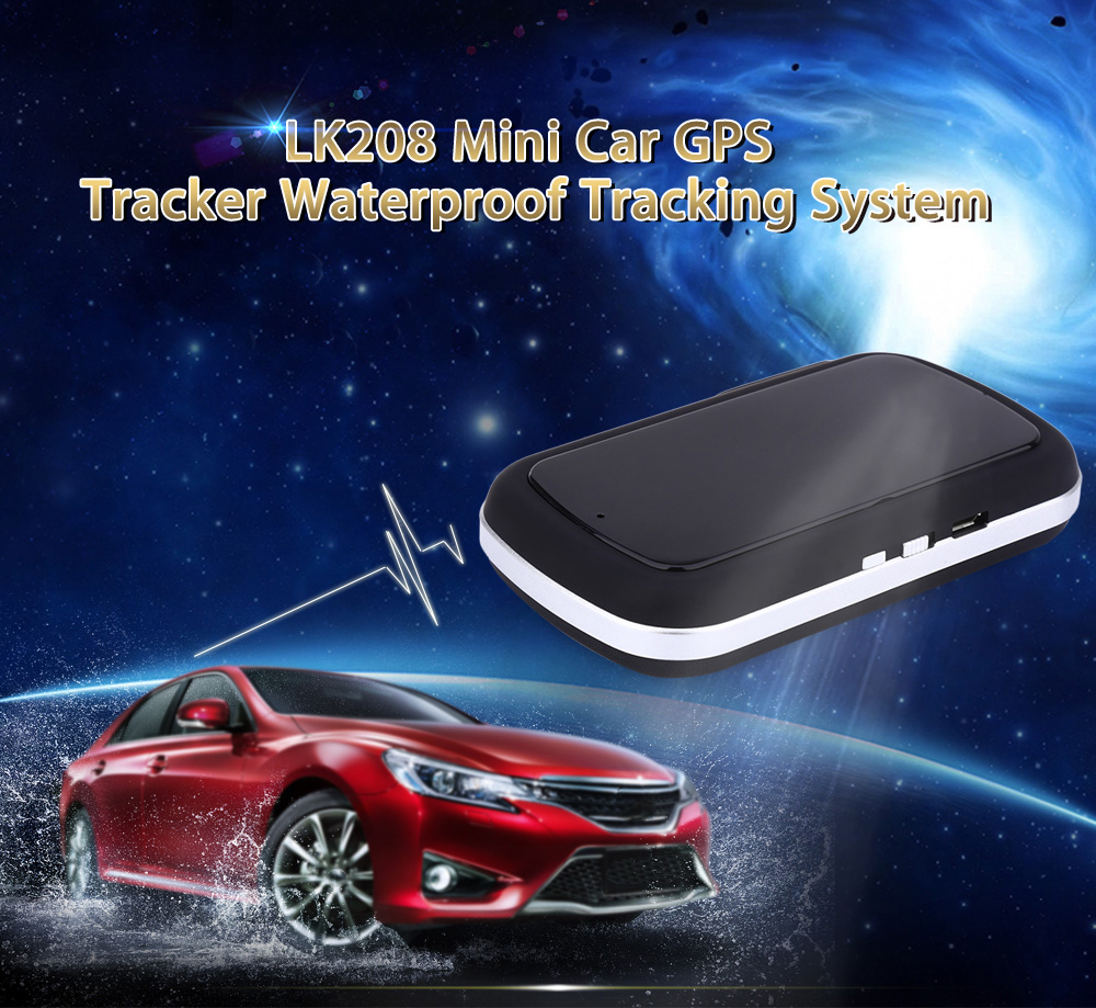 LK208 GPS Tracker Real-time Tracking Device GPRS GSM Network LBS Locating Long Standby Time