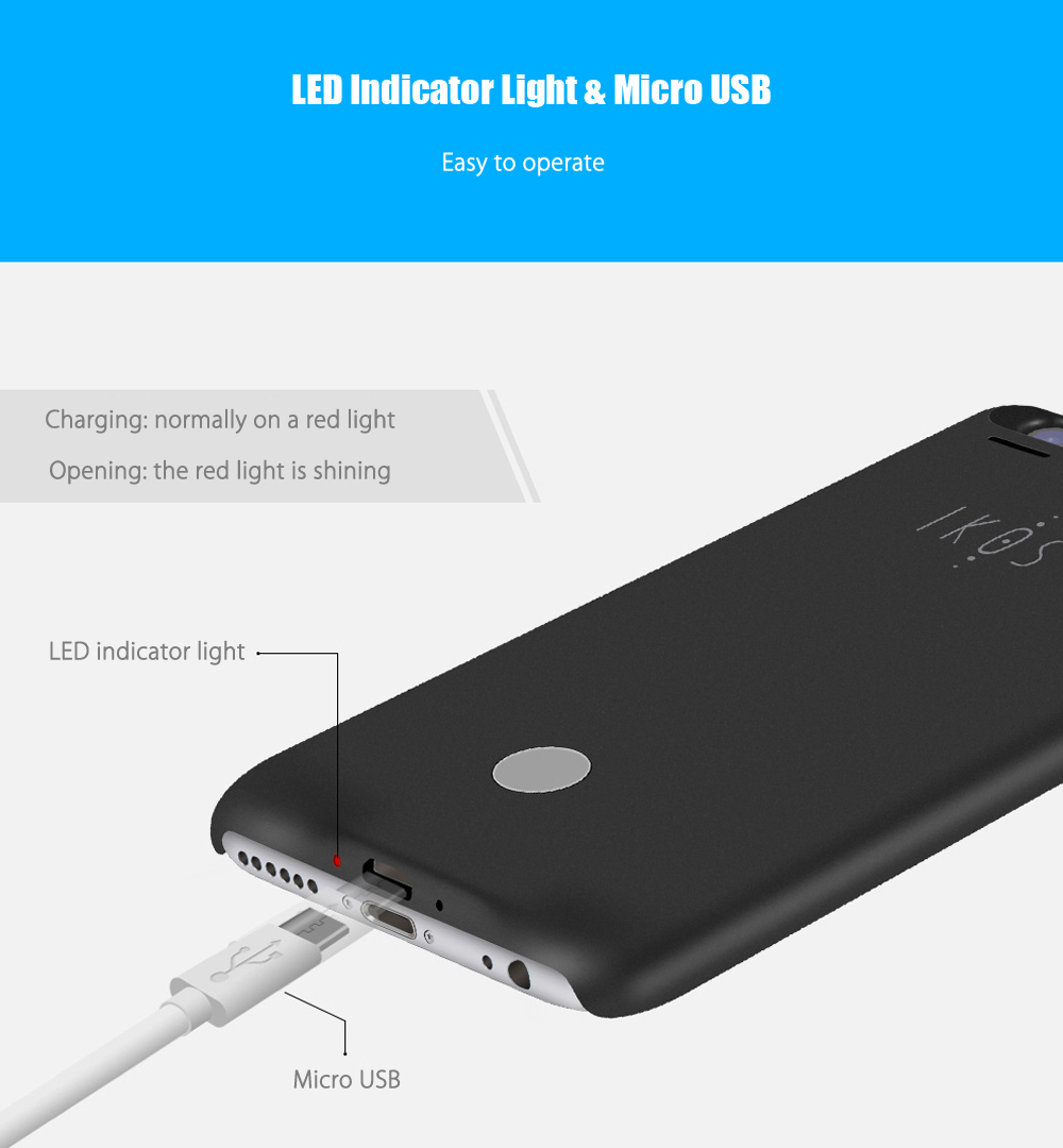 IKOS K2 Bluetooth 4.0 Dual SIM Card Adapter Intelligent Cover for iPhone 6 / 6S