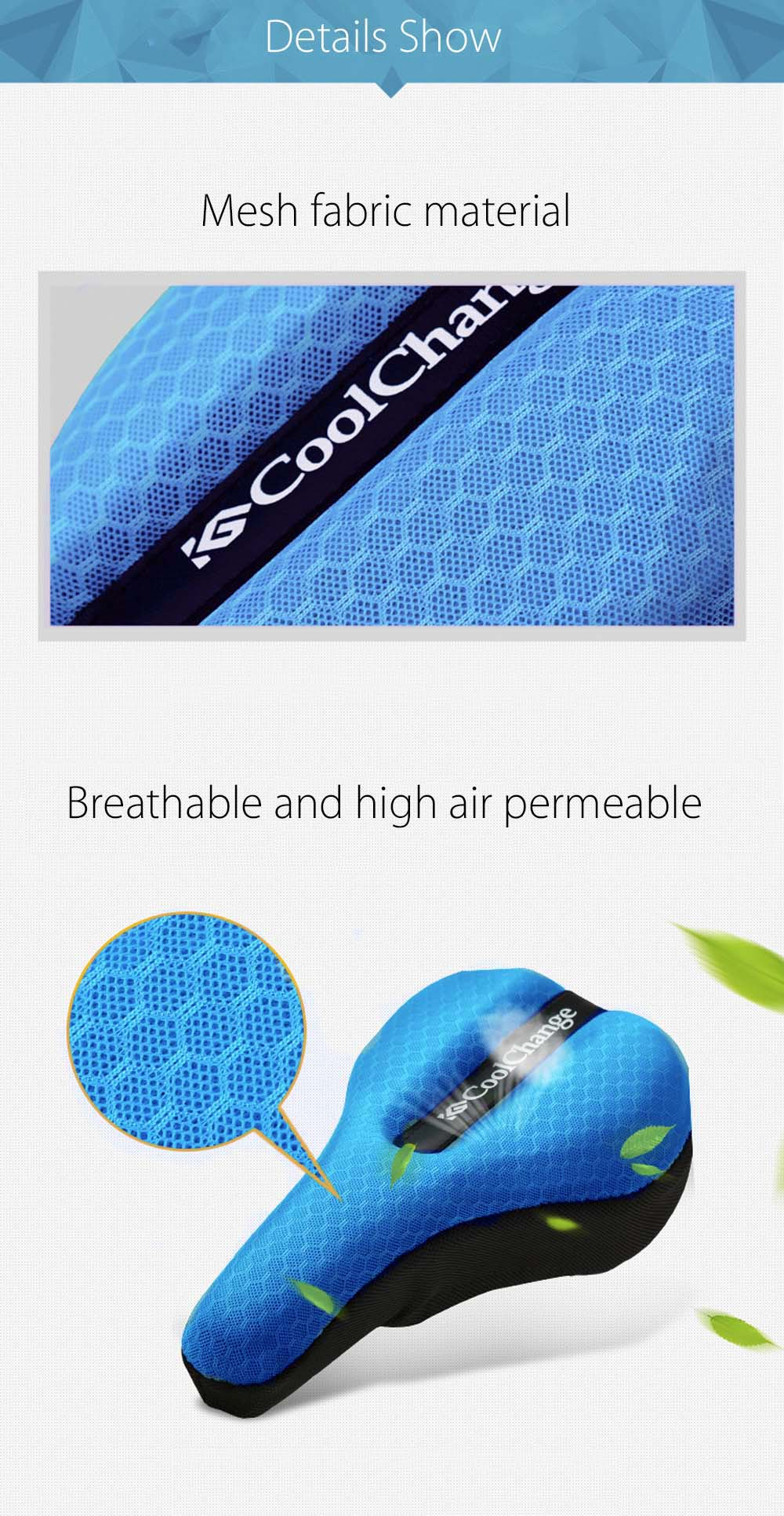 CoolChange Mountain Bike Back Seat Cushion Cover Thicken Sponge Bicycle Equipment