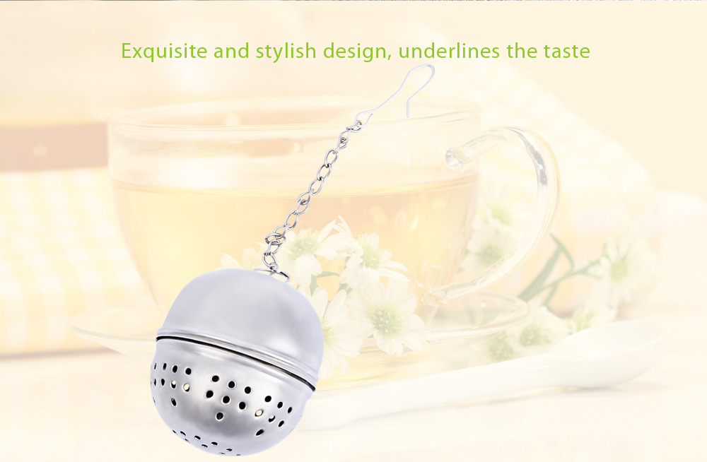 Ball Shape Mesh Tea Infuser Reusable Strainer Filter with Chain