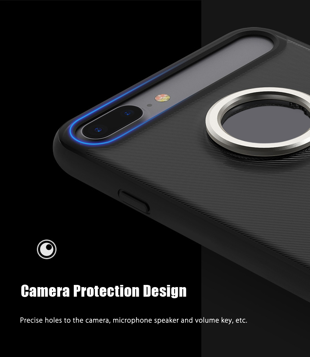 Rock M2 Magnetic Ring Kickstand Protective Phone Case for iPhone 7 Plus