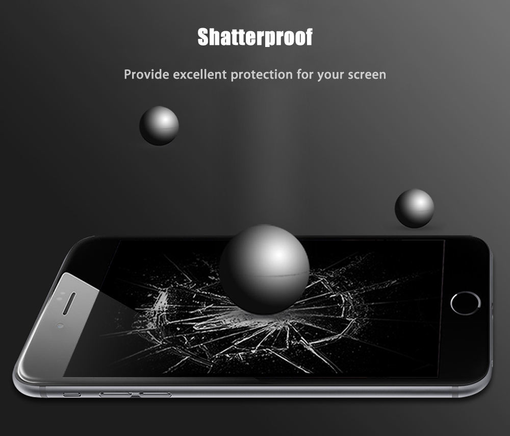 ROCK 2.5D Curved Tempered Glass Shatterproof Full Screen Protective Film for iPhone 7 Plus