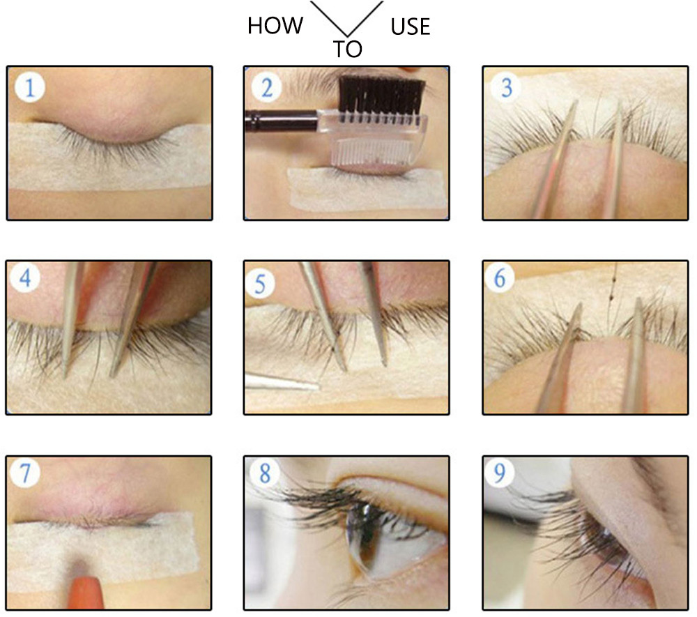 Liddy Professional Portable Fake Eyelashes Extension Kit with Glue Remover Makeup Tools