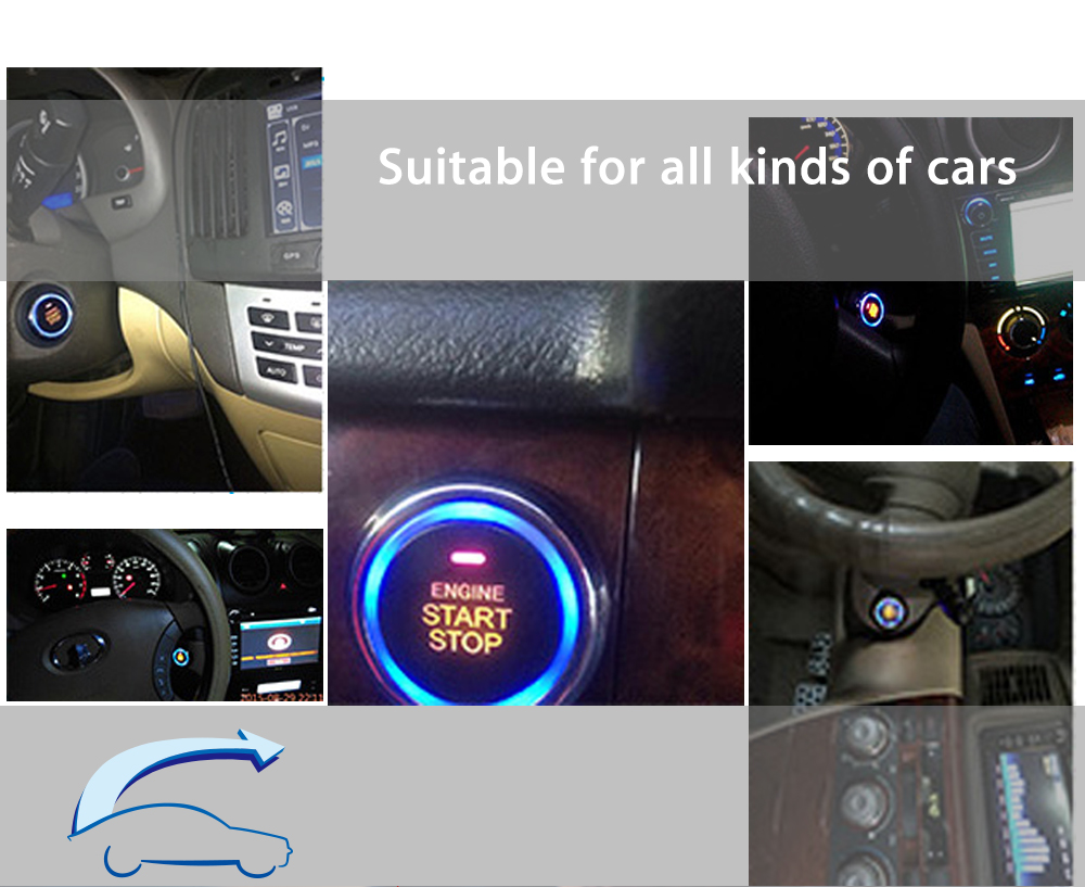 9001 Car Engine Start Remote Control Button Starter Keyless Entry Stop Immobilizer Oil Detector