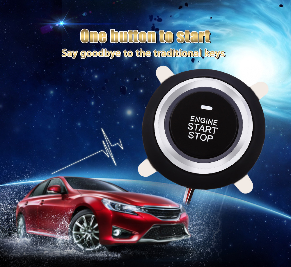 9002 Car Engine Push Start Button RFID Lock Ignition Starter Keyless Entry Anti-theft Stop Immobilizer