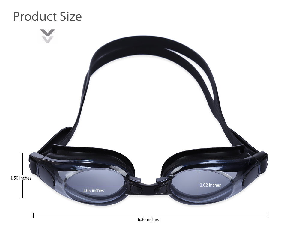 Outdoor G2580 UV Protected Myopic Goggles Nearsighted Swimming Glasses