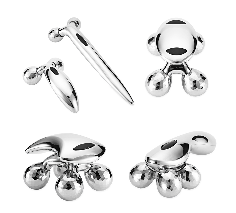 Stainless Steel Body Massager with Ball for Health Care Massage