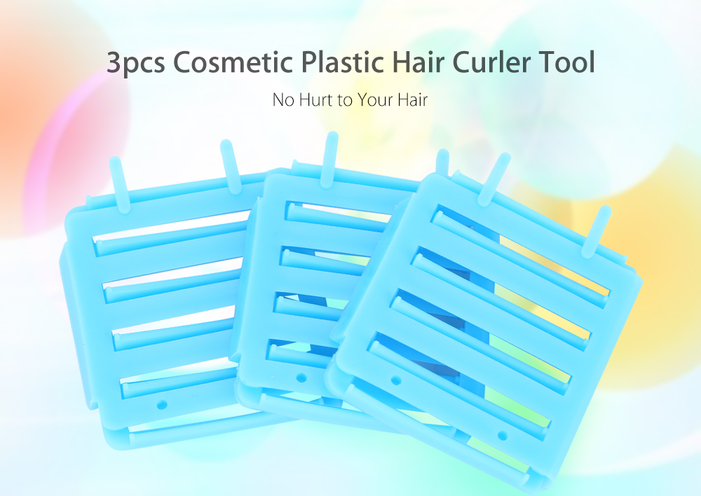 3pcs / Set Plastic Hair Curler