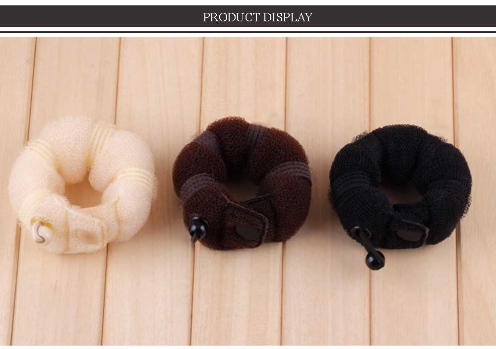 Large Size Fashionable Hairstyle Button Design Elegant Magic Bun Hair Curlers