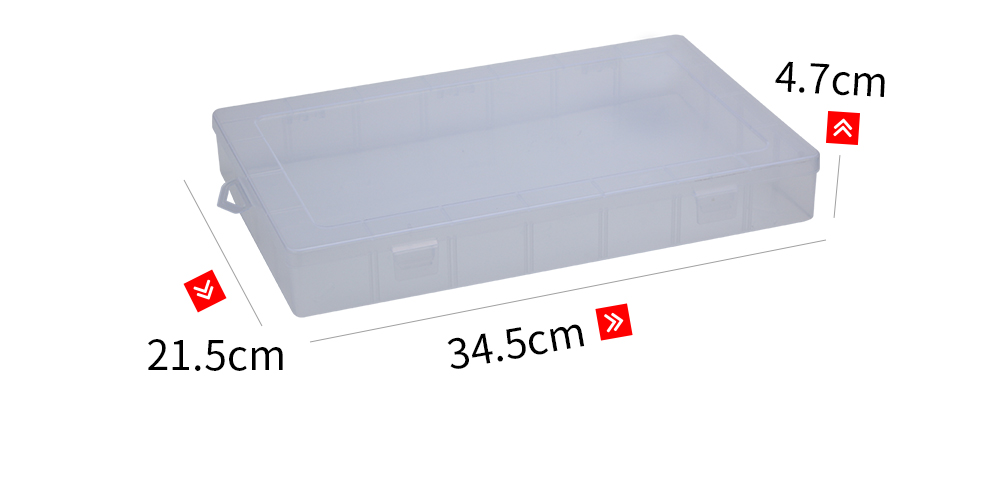 Multifunctional Transparent Plastic Fishing Tackle Storage Box